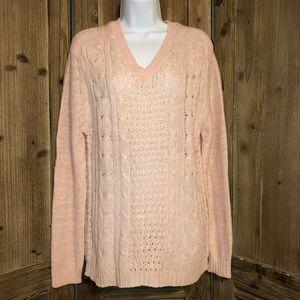 NWT Jennifer Lauren sweater. Pale pink. Large.